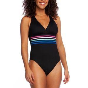 NWT La Blanca Multi Strap Cross Back Swimsuit
